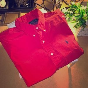 Long sleeve Polo Button Down Shirt